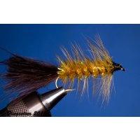 Wooley Bugger bernsteinfarbig/braun 10 mit Widerhaken