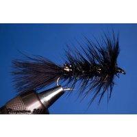 Wooley Bugger schwarz/Krystal 6 mit Widerhaken