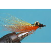 Clouser Deep Minnow - gelb/orange mit Widerhaken #8