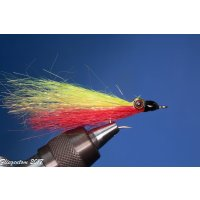 Synthetic Clouser Deep Minnow gelb/rot ohne Widerhaken #6