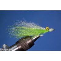 Synthetic Clouser Deep Minnow weiß/chartreuse