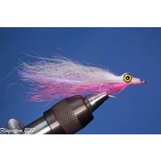 Synthetic Clouser Deep Minnow weiß/pink