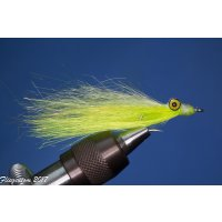 Synthetic Clouser Deep Minnow weiß/fluo gelb mit...