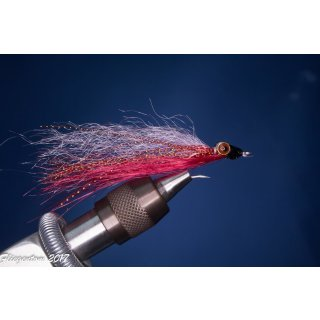 Synthetic Clouser Deep Minnow silber/rot metallic
