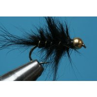 Schwarze, struppige Hasenohrnymphe