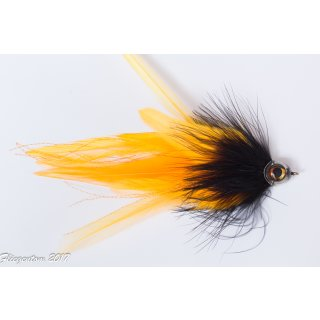Marabou Hechtstreamer schwarz / orange