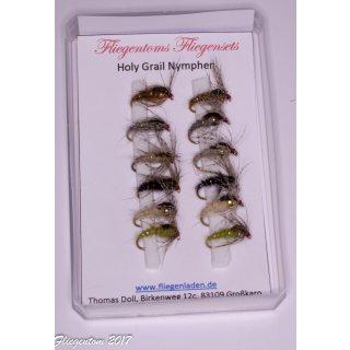Fliegenset Holy Grail Nymphen