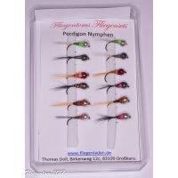 Fliegenset Perdigon Nymphen