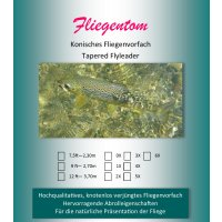 Fliegentom - Konisches Vorfach Monofil 2,70m (9ft) 1X...