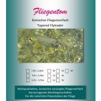 Fliegentom - Konisches Vorfach Monofil 2,70m (9ft) 4X...