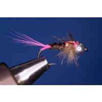 Fasanenschwanznymphe mit rosa Marke 10 mit Widerhaken...