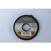 Stroft FC2 Fluorocarbon Tippetmaterial 25m 0,22mm 2X
