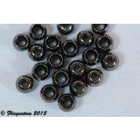 Messingperlen Black Nickel 4mm