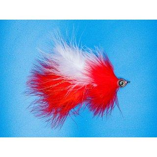 Großer Marabou Hechtstreamer weiß/rot