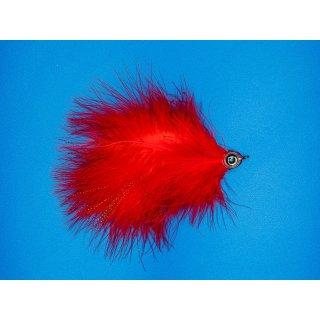 Großer Marabou Hechtstreamer rot