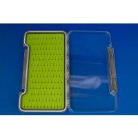 Fliegentom mittlere Klarsicht Fliegenbox / Fliegendose mit selbstheilender Silikoneinlage